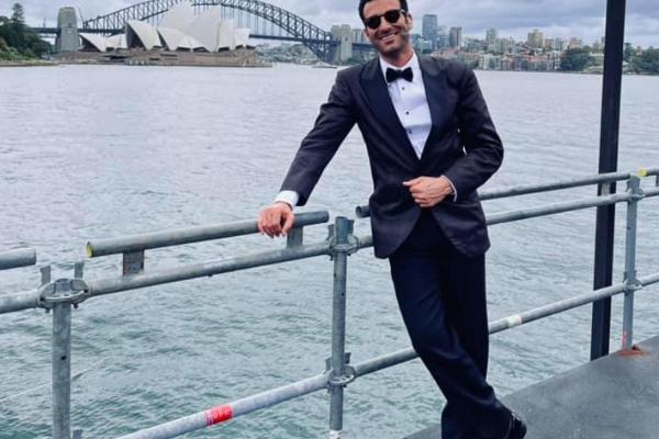 Rame Lahaj in front of Sydney's opera